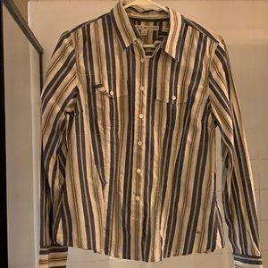 Tommy Hilfiger striped (blue and gray) shirt